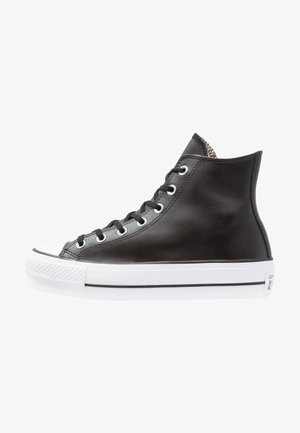 CHUCK TAYLOR ALL STAR LIFT CLEAN - Korkeavartiset tennarit - black/white