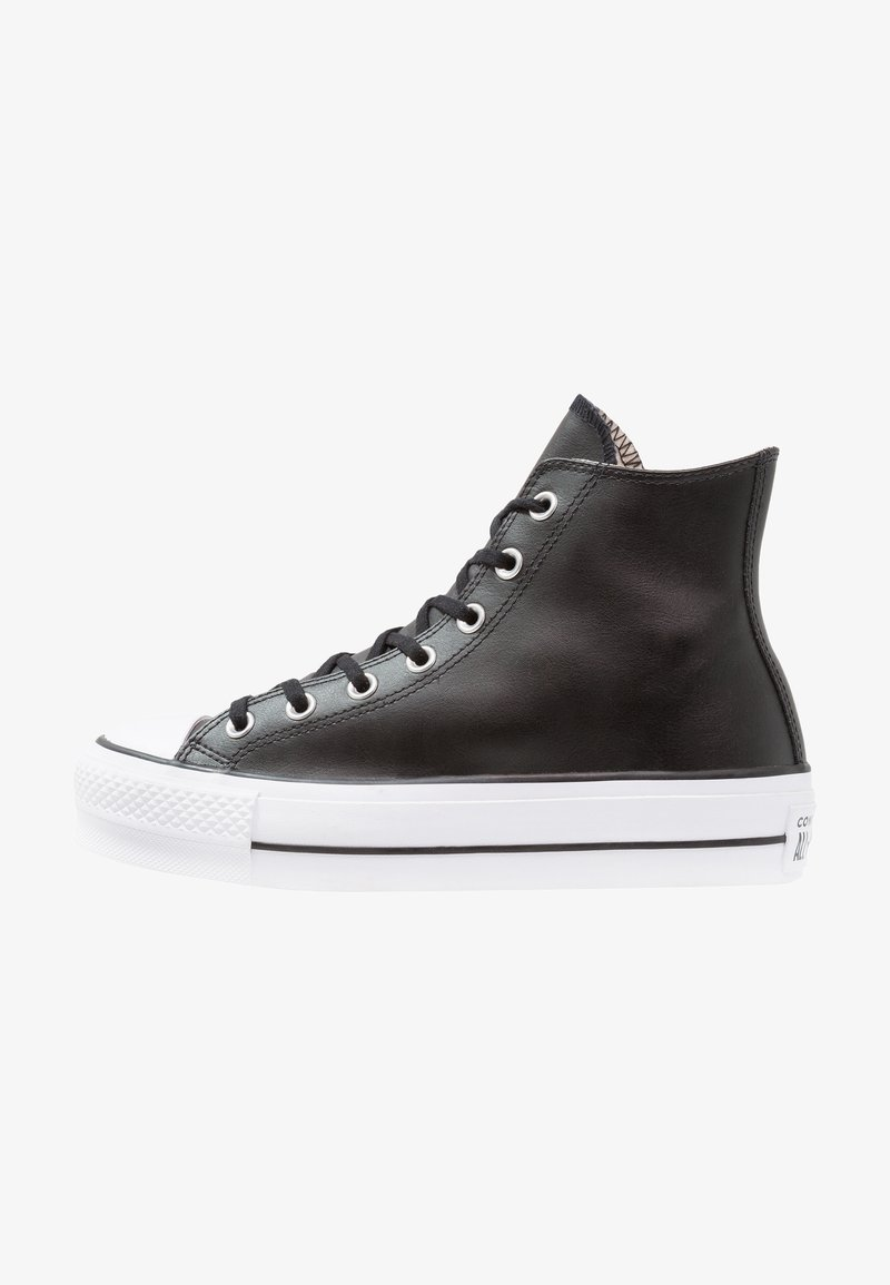 Converse - CHUCK TAYLOR ALL STAR LIFT CLEAN - High-top trainers - black/white