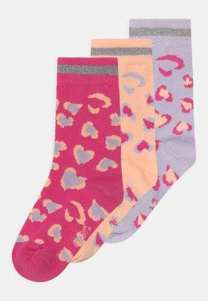 LEO 3 PACK - Socks - pink/grey/rosa