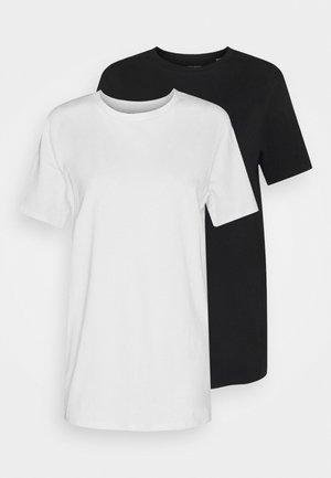JJEMUSCLE FIT TEE 2 PACK - T-shirt basic - black/white
