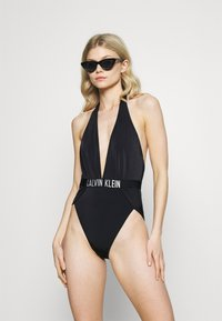 Calvin Klein Swimwear - INTENSE POWER PLUNGE ONE PIECE - Swimsuit - black - 1