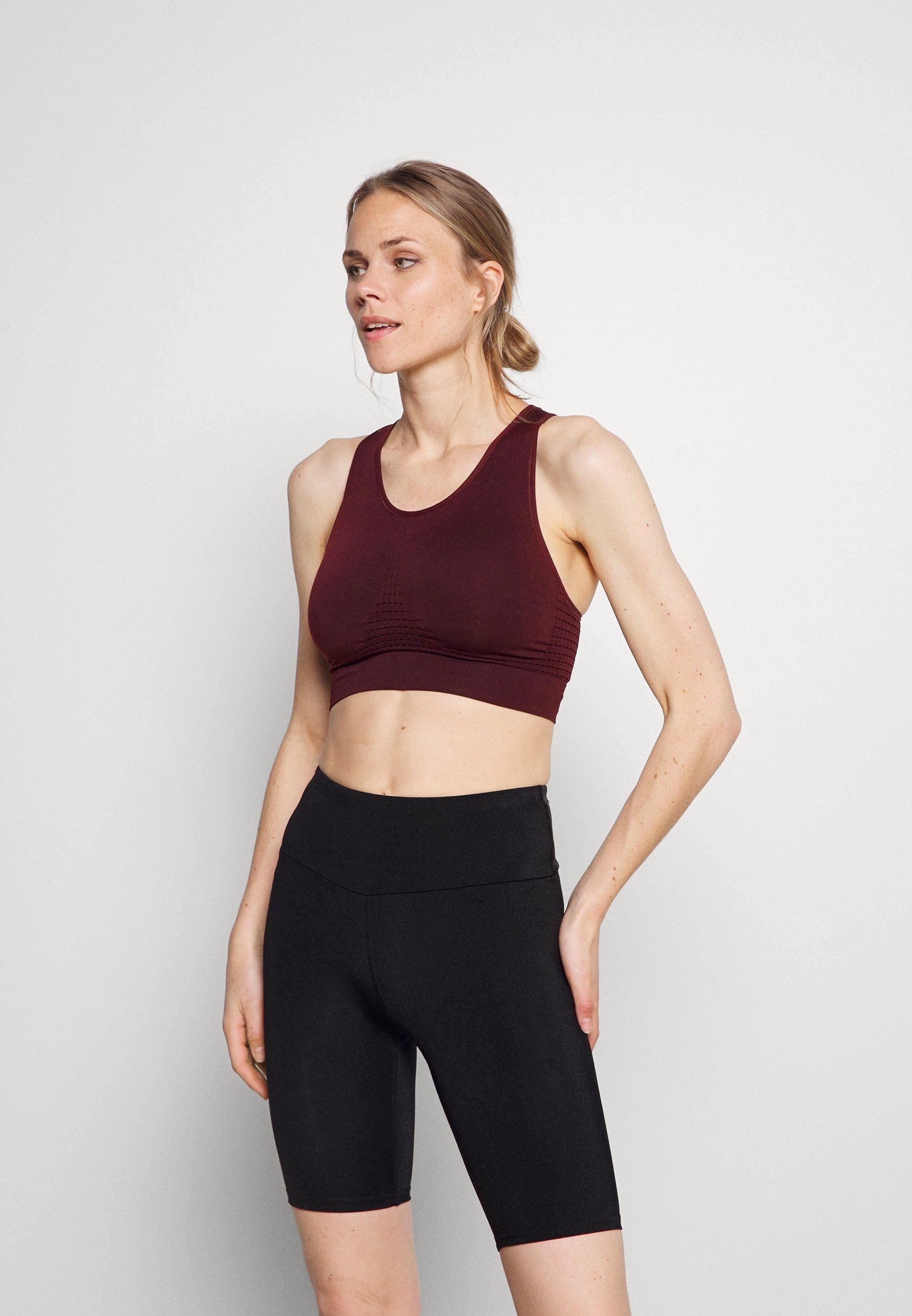 Women STAMINA WORKOUT BRA - Light support sports bra - black cherry purple