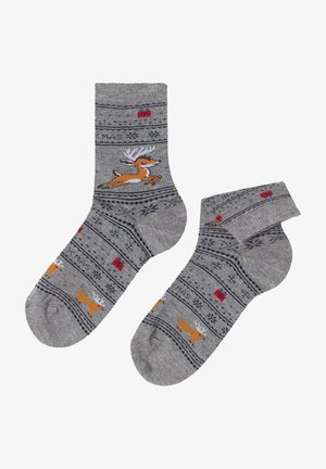FAMILY CHRISTMAS - Socks -  grey reindeer blend