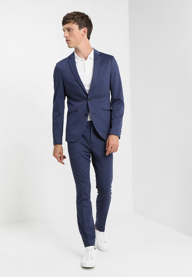 Suit - mottled dark blue