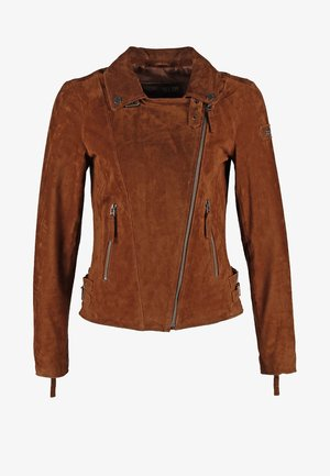 TAXI DRIVER - Leather jacket - cognac