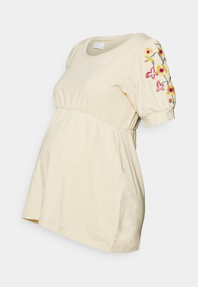 MLESME - T-shirt med print - parchment