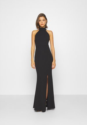 HALTER NECK DRESS - Galajurk - black