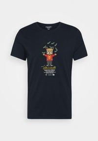 Jack & Jones - JORDENIMDOG TEE CREW NECK - Print T-shirt - navy blazer - 4