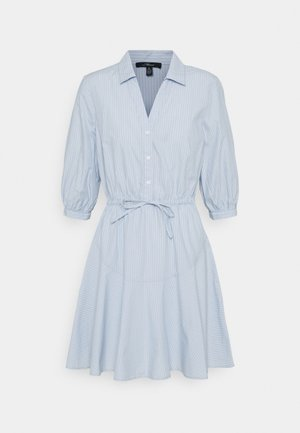 STRIPE DRESS - Shirt dress - sky blue stripe