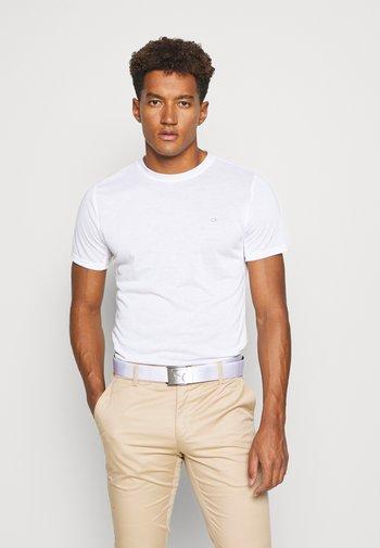 3 PACK - T-shirt - bas - black/white/charcoal