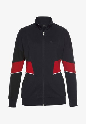 Zip-up sweatshirt - navy-rot-weiß