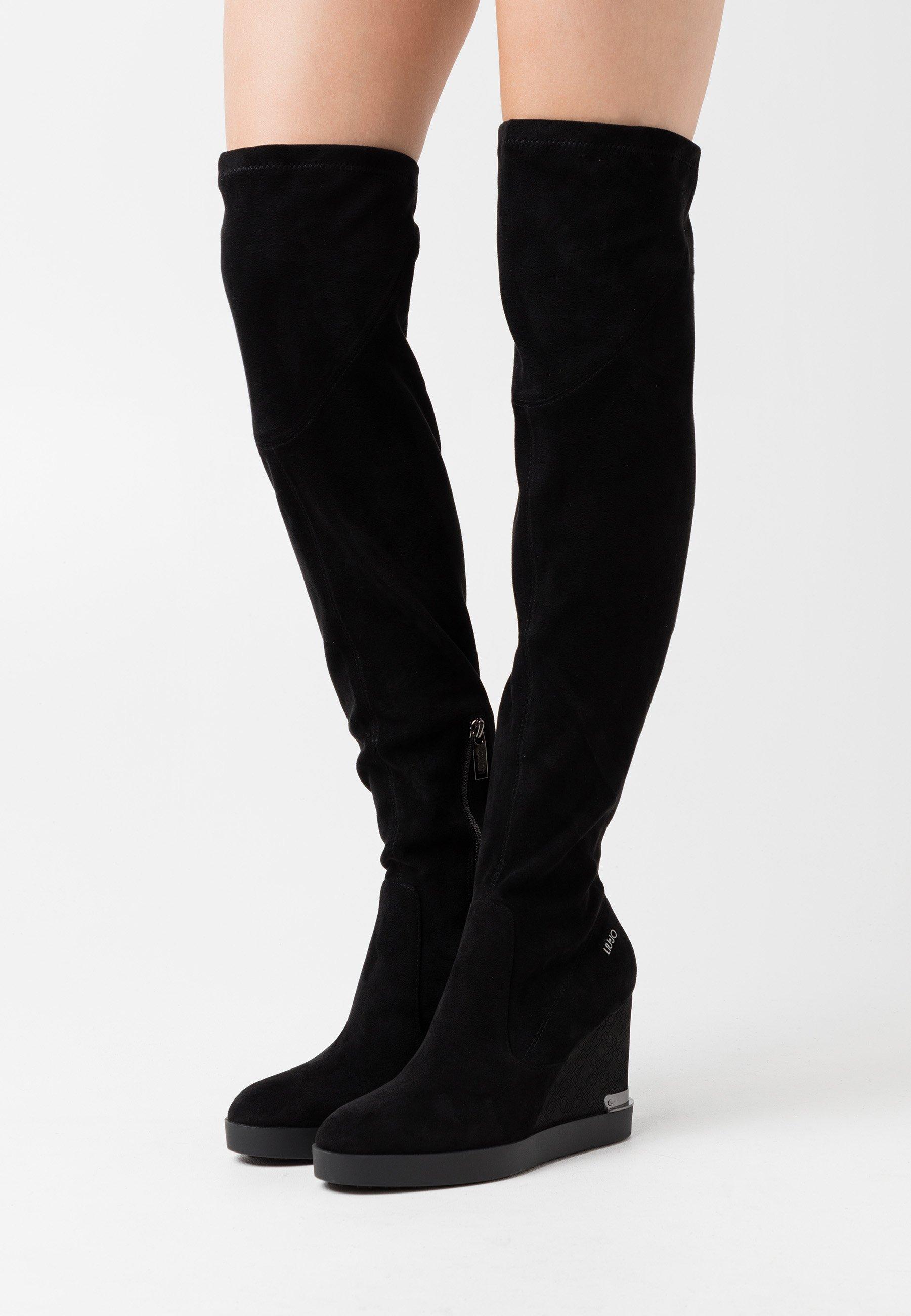 diario dar a entender Erudito  Liu Jo Jeans GLEN - Over-the-knee boots - black - Zalando.co.uk