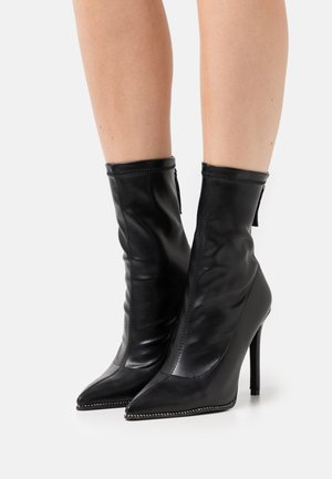 PULSE - High heeled ankle boots - black