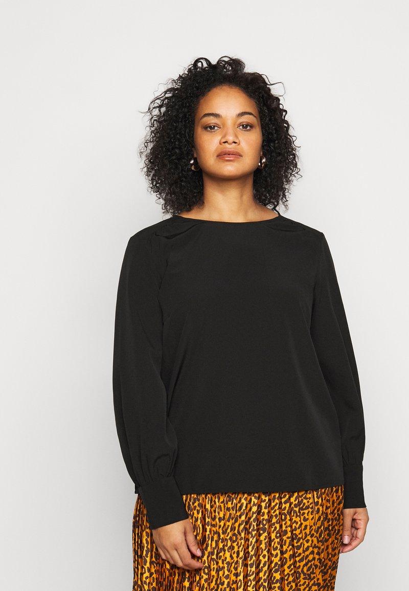 Vero Moda Curve - VMGABRINA - Long sleeved top - black