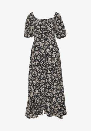 BOUQUET DITSY SQUARE NECK DRESS - Kjole - black