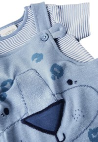 Next - BLUE APPLIQUé CHARACTER DUNGAREES AND BODYSUIT SET (0MTHS-2YRS) - Body - blue - 3