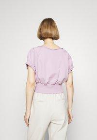 3.1 Phillip Lim - SHIRRED BALLERINA NECK FRENCH TERRY  - Mikina - lavender - 2