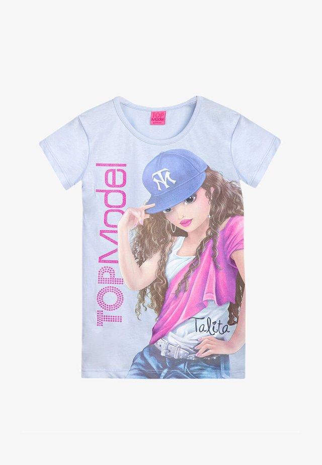 Print T-shirt - halogen blue