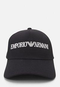 Emporio Armani - BASEBALL HAT UNISEX - Czapka z daszkiem - black - 4
