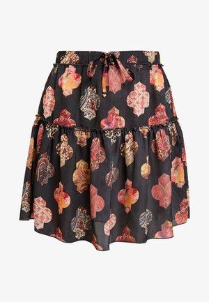 SKIRT SHORT - Spódnica trapezowa - black