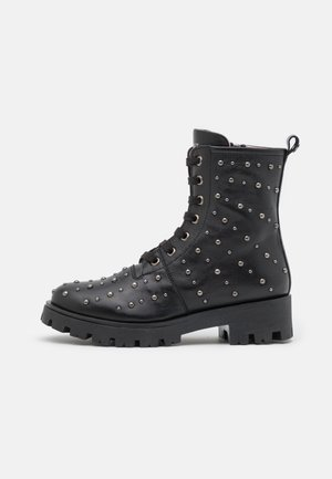 ANFIBIO CON MICRO BORCHIE - Lace-up ankle boots - nero
