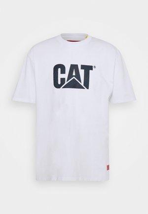 WHEELS PRINT TEE - T-shirt med print - white