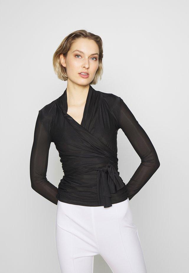PUCCA COPRISPALLE MAGLINA - T-shirt à manches longues - black
