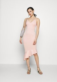 Miss Selfridge - PEPLUM MIDI DRESS - Cocktail dress / Party dress - blush - 1