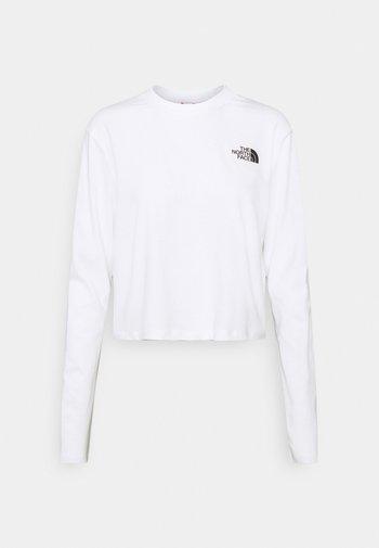 CROP TEE - Long sleeved top - white
