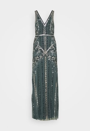 ALL OVER EMBELLISHED MAXI DRESS - Vestido de fiesta - multi