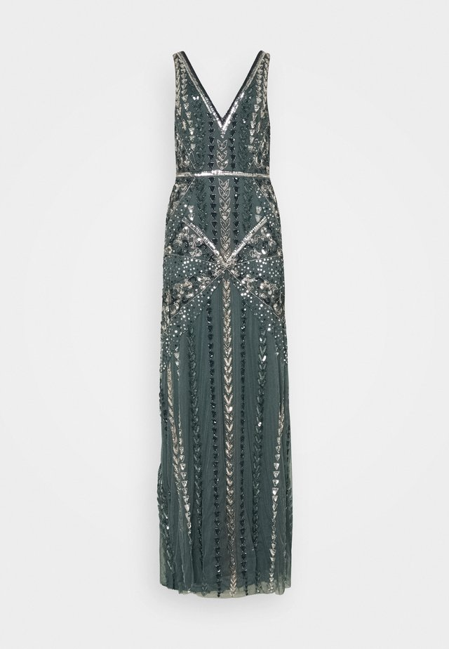 ALL OVER EMBELLISHED MAXI DRESS - Galajurk - multi