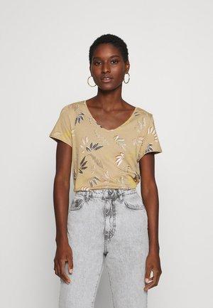 LEAF TEE - T-shirt print - beige