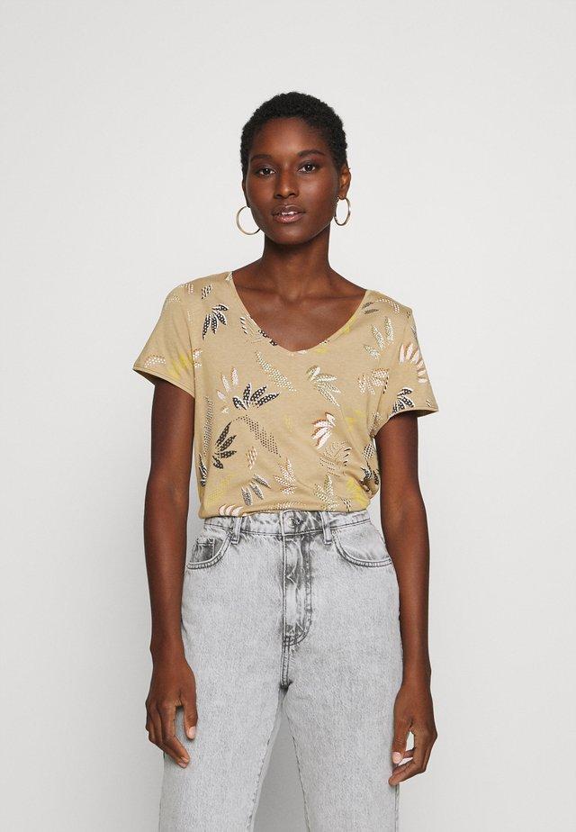 LEAF TEE - Camiseta estampada - beige