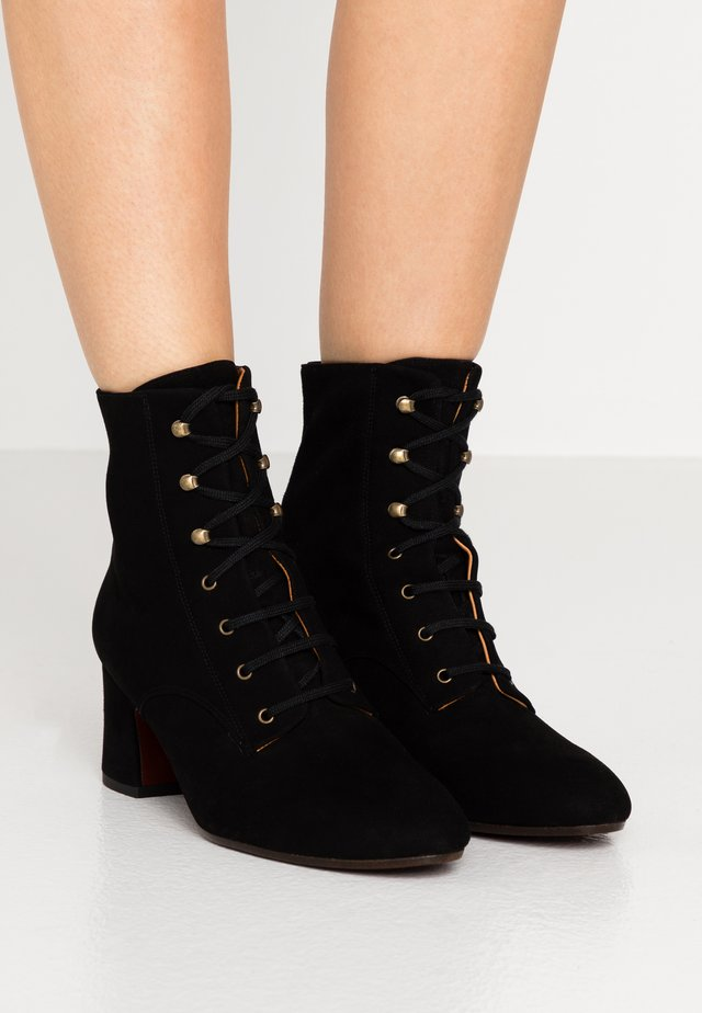 NAKO - Bottines à lacets - black