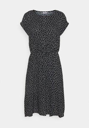Sukienka letnia - schwarz/weiss