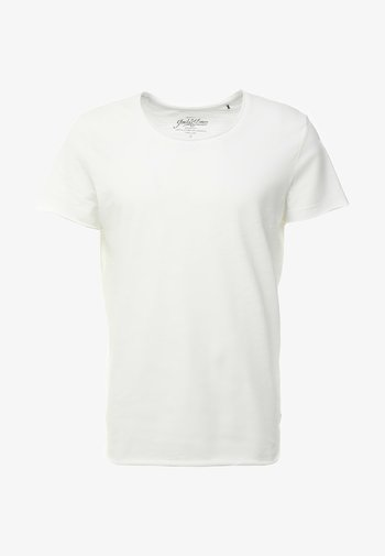 JJEBAS TEE - Basic T-shirt - cloud dancer