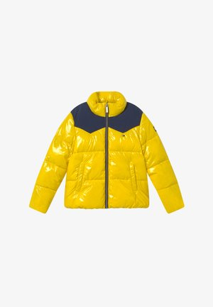 SHINY YOKE PUFFER - Winter jacket - yellow