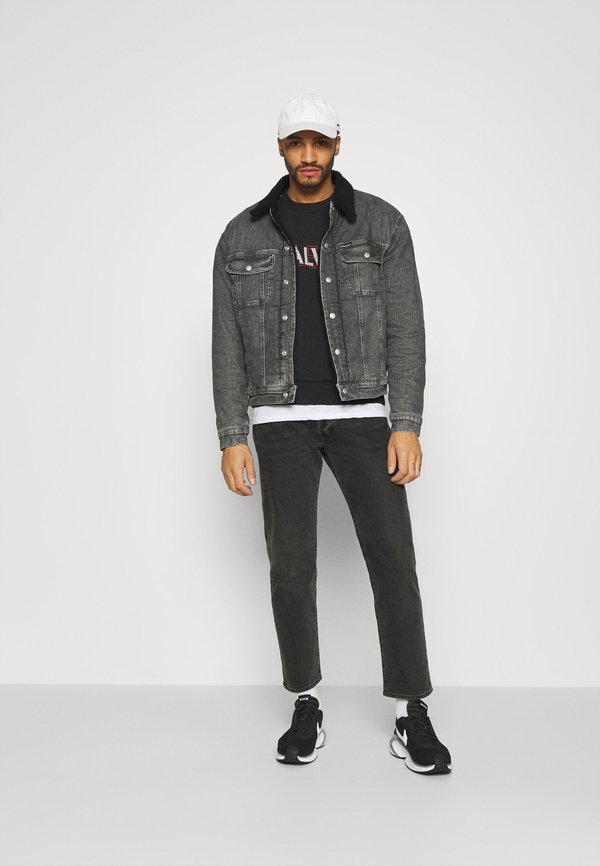 Calvin Klein GRAPHIC LOGO - Bluza - black/czarny Odzież Męska PMKA