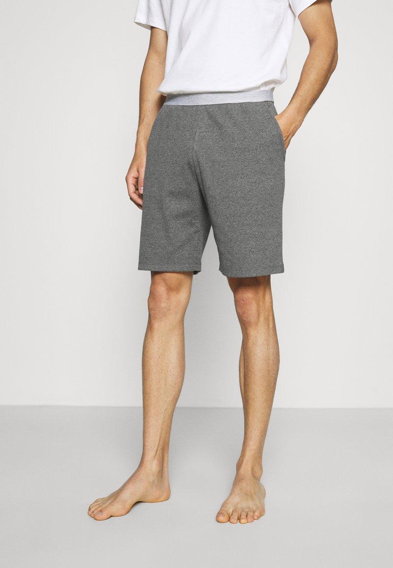 Pier One - LOUNGE HENLEY SHORTS - Pyjama bottoms - mottled dark grey