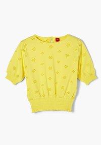 s.Oliver - MIT LOCHSTICKEREI - Longsleeve - yellow - 2