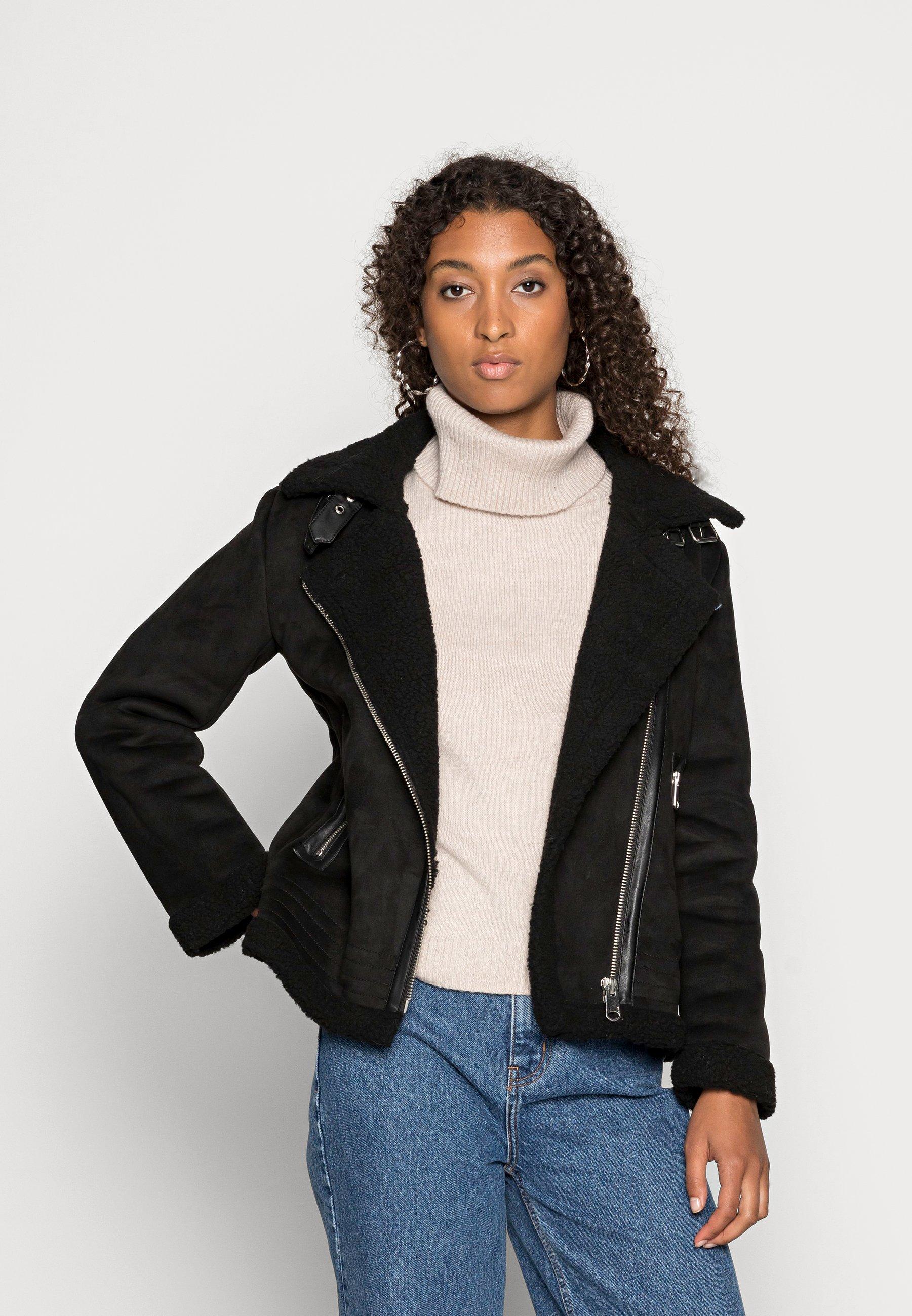 Women ONLDIANA BONDED AVIATOR JACKET - Faux leather jacket