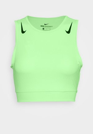 AEROSWIFT CROP - Camiseta de deporte - vapor green/black