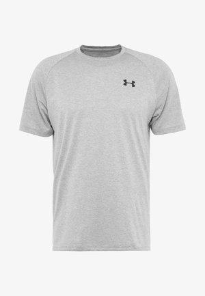 HEATGEAR TECH  - Camiseta estampada - steel light heather/black