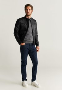 Mango - JOSENO - Faux leather jacket - black