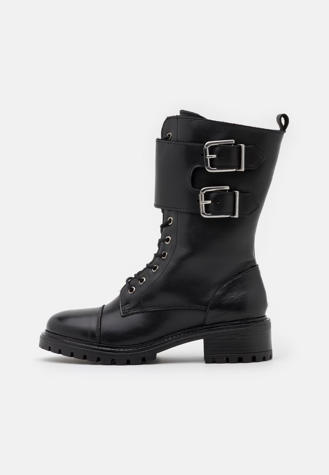 YASMILIA HIGH BOOTS - Lace-up boots - black