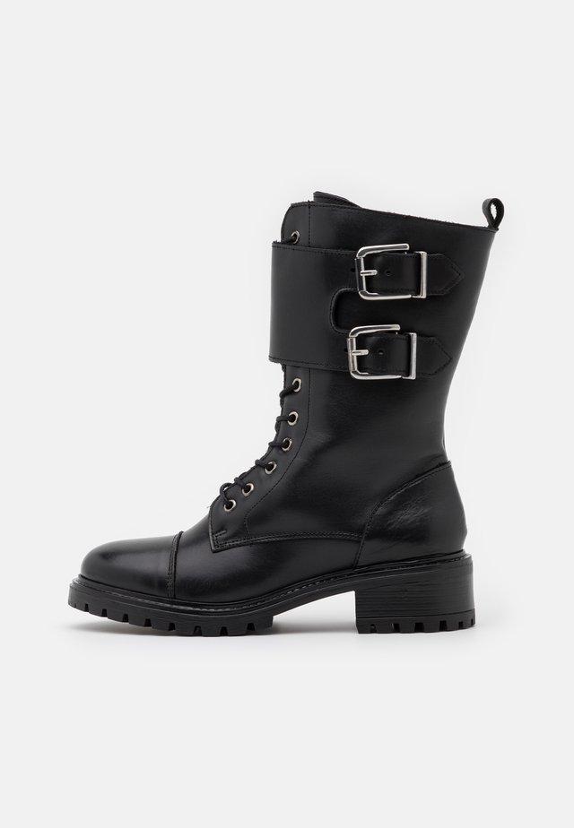 YASMILIA HIGH BOOTS - Schnürstiefel - black