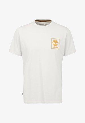 Print T-shirt - white sand/dark cheddar