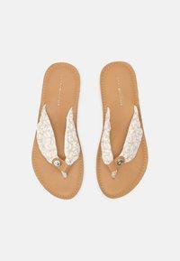 Tommy Hilfiger - BEACH  - T-bar sandals - ecru - 4