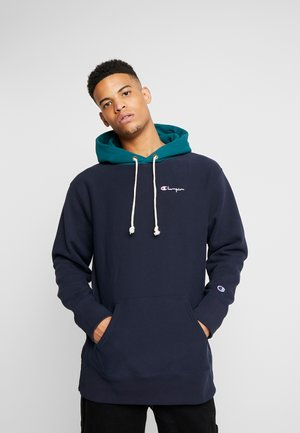 COLOR BLOCK HOODED  - Mikina s kapucí - teal