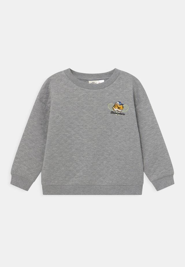MINI QUILT - Longsleeve - grey melange
